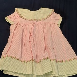 Other - EUC pink and green gingham dress size 12 mo